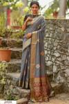 Gray color Handloom cotton weaving patola saree
