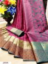 Pink color Pure kota muslin silk woven design saree