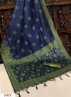 Black color Handloom raw silk weaving saree