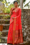 Red color Handloom cotton weaving patola saree