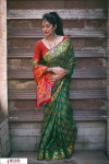 Green color Banarasi silk weaving Patola saree