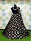Black color heavy georgette embroidery sequins work lehenga