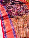 Magenta color kanchipuram handloom weaving silk saree with zari work