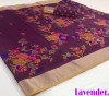Magenta color pure jamdani weaving saree with zari work