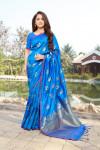 Firoji color soft & Pure cotton silk saree with pure gold zari work