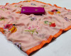 Orange color georgette saree with excellent print
