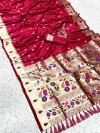 Pure kanchipuram paithani silk saree with zari work