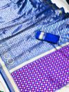 Blue color soft banarasi silk saree with patola pallu