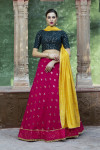 Pink color georgette lehenga with sequince work