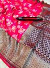 Pink color kanchipuram pure silk handloom saree