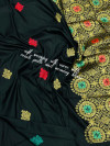 Black color soft silk weaving jacquard saree with rich pallu