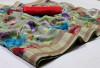 Multi color kota doriya saree with digital print pallu