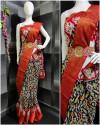 Black color soft cotton saree with zari border & Hip belt