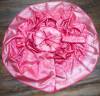 Peach color soft banarasi silk saree with silver zari work