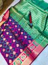 Kanchipuram Handloom Weaving Silk Saree With Rich Contrast Zari pallu