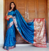Firoji color Soft banarasi silk saree with golden zari jacquard weaving work