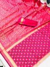 Pink color soft banarasi silk saree with patola pallu