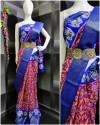 Pink color soft cotton saree with zari border & Hip belt