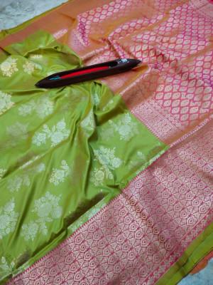 Green color kanchipuram pure silk handloom saree