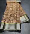 Multi color brasso silk saree