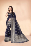 Soft cotton silk saree with jacquard weaving butta