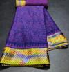 Purple color brasso silk saree