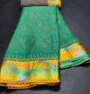 Rama green color brasso silk saree