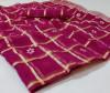 Pink color gharchola doriya saree with gotha patti butti