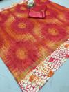 Mutli color soft doriya cotton saree