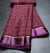 Magenta color brasso silk saree