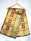 Magenta and orange color soft banarasi silk saree