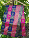 Blue and pink color soft banarasi silk saree