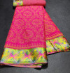 Pink color brasso silk saree