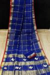 Royal blue color soft kota saree
