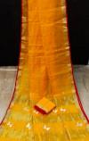 Yellow color soft kota saree