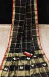 Black color soft kota saree