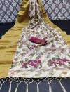 Multi color cotton brasso saree with kalam kari print