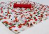 White color brasso digital print saree with pumpum less