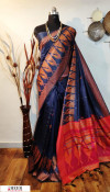 Handloom raw silk resham weaving work saree
