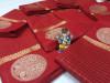 Red color Soft Linen silk ZarI Weaving Work saree