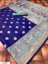 Soft & Pure Banarasi silk saree With Rich Weaving Pallu