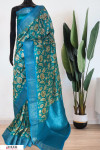 Soft Munga Silk Weaving digital printed saree
