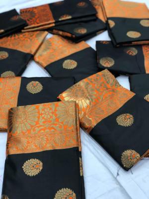 Incredible weave katan silk saree