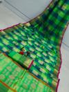 Mutli color banarasi silk saree with golden zari weaving work