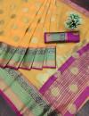 Pure Linen Silk Jacquard weaving Work Saree