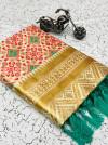 White color heavy banarasi silk saree with beautiful tassel work