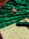 Green color lichi silk saree  with Minakari Work & Jari Butti
