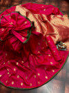 Pink color lichi silk saree  with Minakari Work & Jari Butti