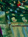 Green color soft silk saree with minakari & zari border