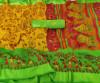 Yellow color khadi silk saree with kalamkari print